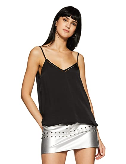 f16bedcce303b Forever 21 Women s Caged V-Neck Cami Top 81150