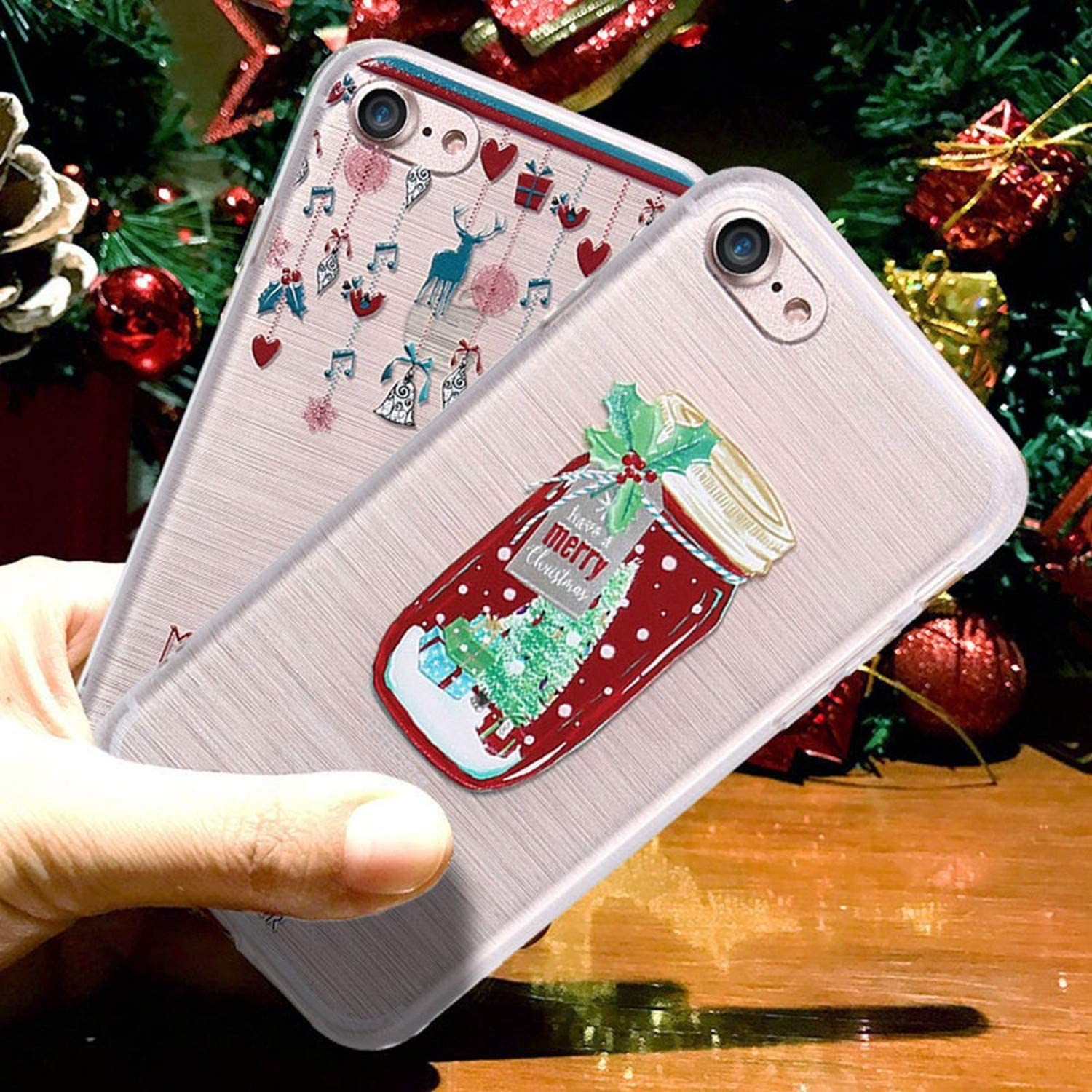 3D Cases iPhone Xs Max XR Case Christmas Cover iPhone X 6 6s 7 8 Plus SE Relief Phone Shell Coques Capinhas,Christmas Gloves iPhone XR