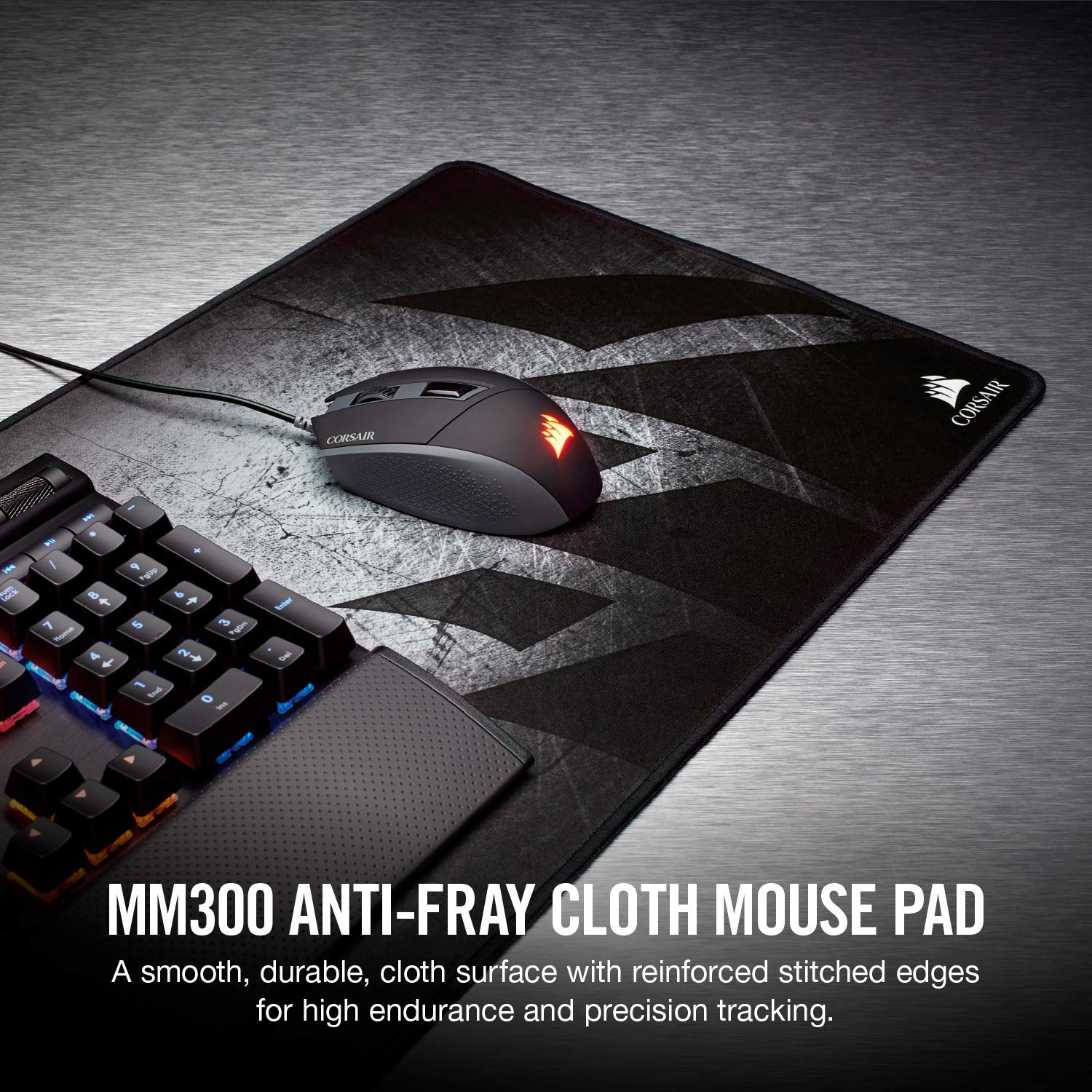 b051731a86a Amazon.com: CORSAIR MM300 - Anti-Fray Cloth Gaming Mouse Pad -  High-Performance Mouse Pad Optimized for Gaming Sensors - Designed for  Maximum Control ...