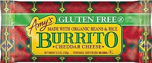 Amy's Frozen Cheddar Cheese Burrito, Gluten Free, 5.5-Ounce
