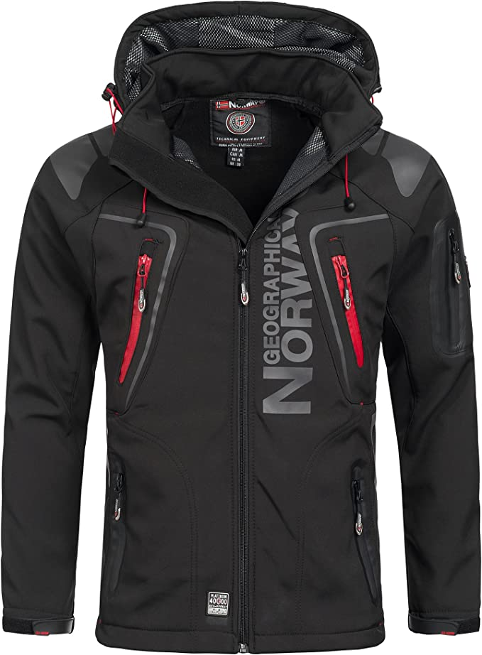 Geographical Norway Techno Softshell Veste Homme Capuche