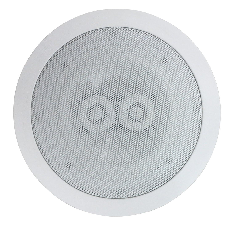 Amazon.com: Electrovision Ceiling Speaker 6.5u0027u0027 2 Way 120w White (single):  Car Electronics