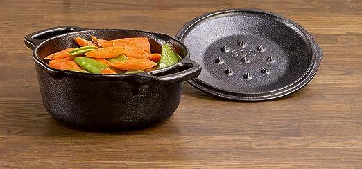 Lodge L1SP3 Cast Iron Serving Pot, 1 Qt, Black
