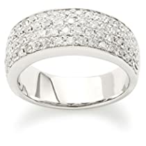 Kobelli 1 cttw Four Row Round 14k White Gold Band