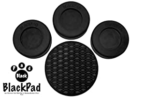 Washing Machine Rubber Feet Pads | Anti Vibration & Anti Walk Rubber Dampers | Textured Grip Prevents Walking & Skidding | Best For Laundry Washer & Dryer Noise Reduction | Set of 4 by BlackPad