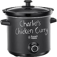 Russell Hobbs 24180 Chalkboard Slow Cooker, 3.5 L, Black