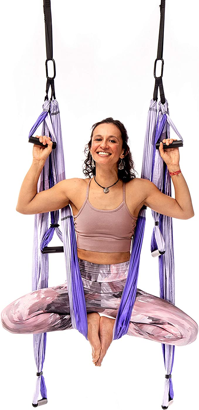 Amazon.com : YOGABODY Yoga Trapeze Pro – Yoga Inversion Swing with Free Video Series and Pose Chart, Purple : Inversion Equipment : Sports & Outdoors