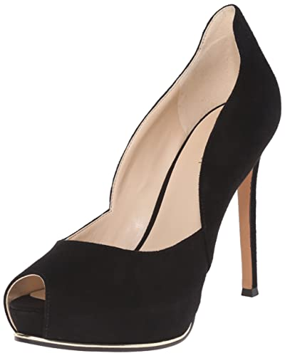 Nine West Women's Copilot Suede Dress Pump, Black, ...