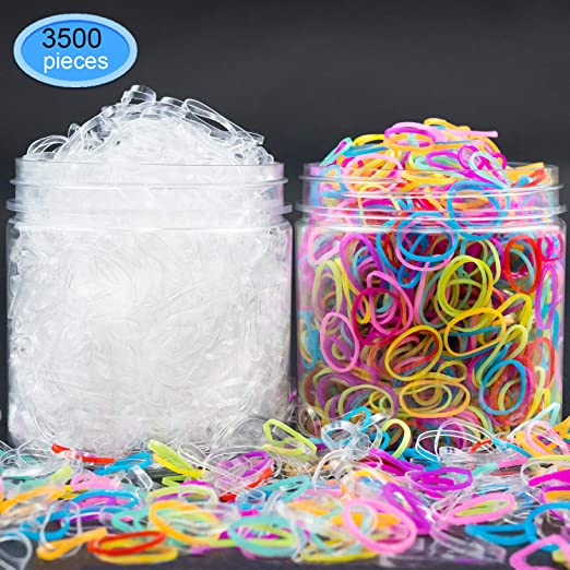 1500 Clear + 2000 Colored Elas...