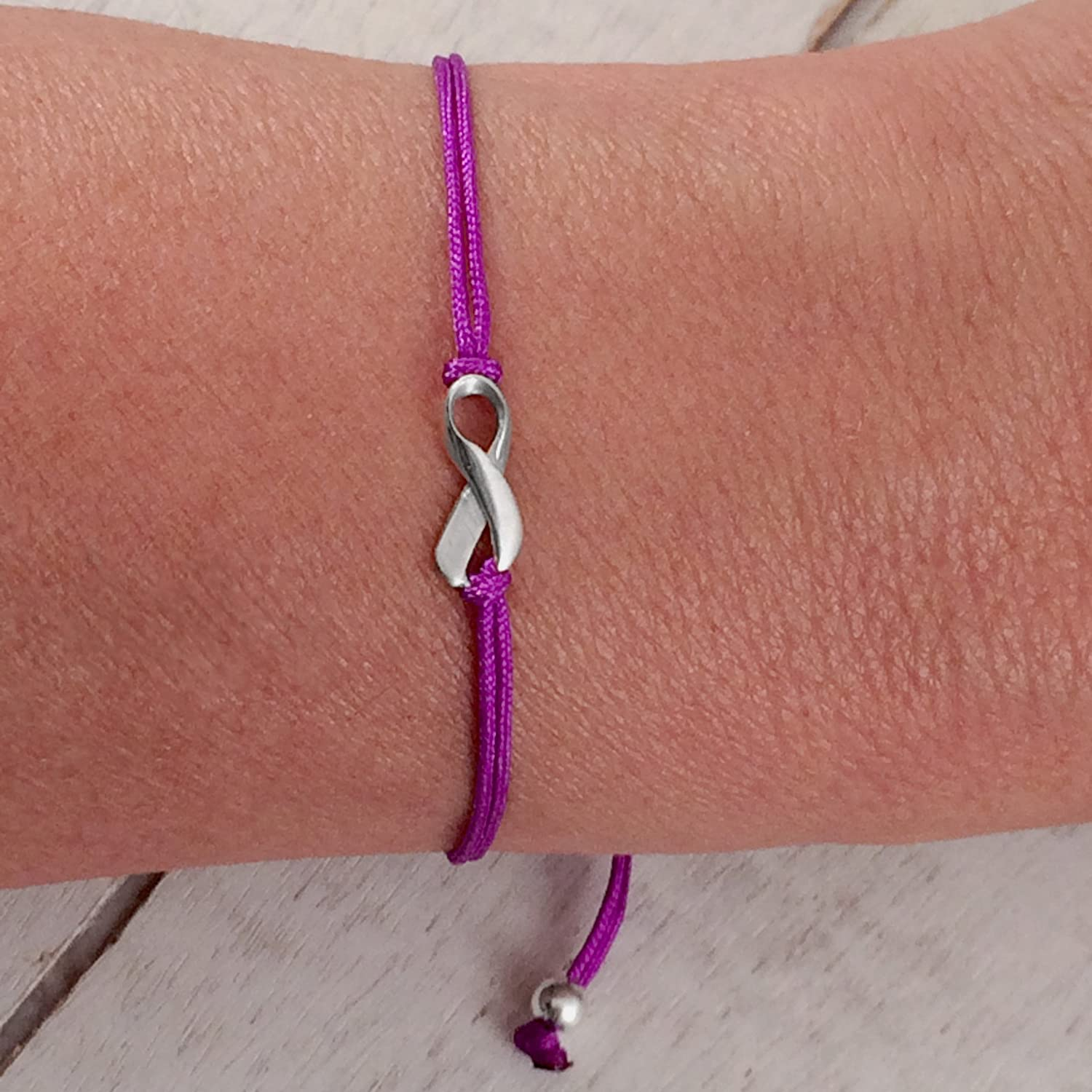 ribbon alzheimer awareness strength s pin hope bracelet