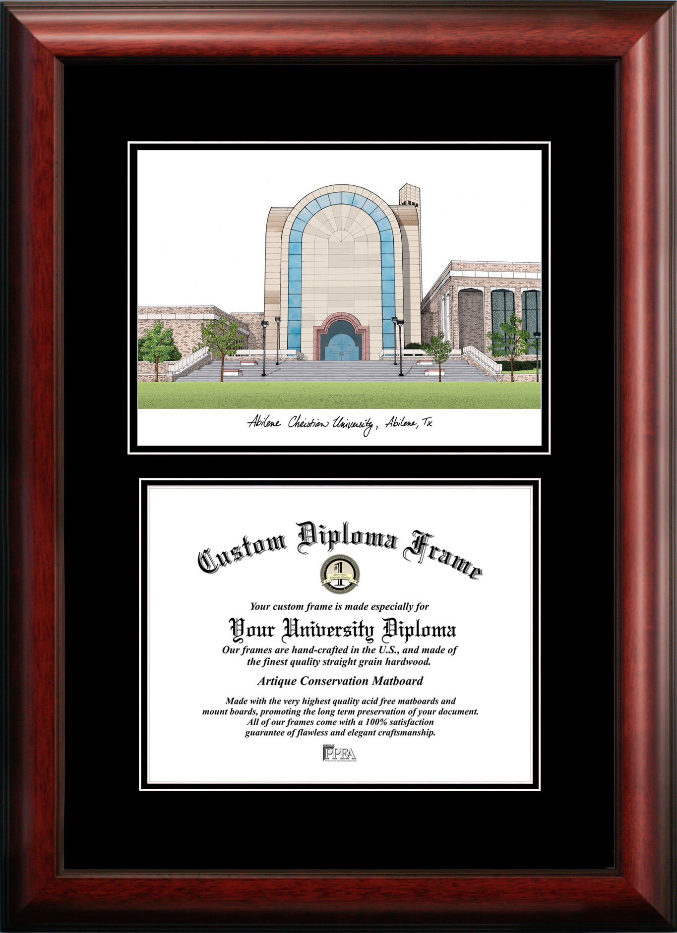Campus Images TX969D Abilene Christian University Diplomate, 11'' x 8.5'' by Campus Images