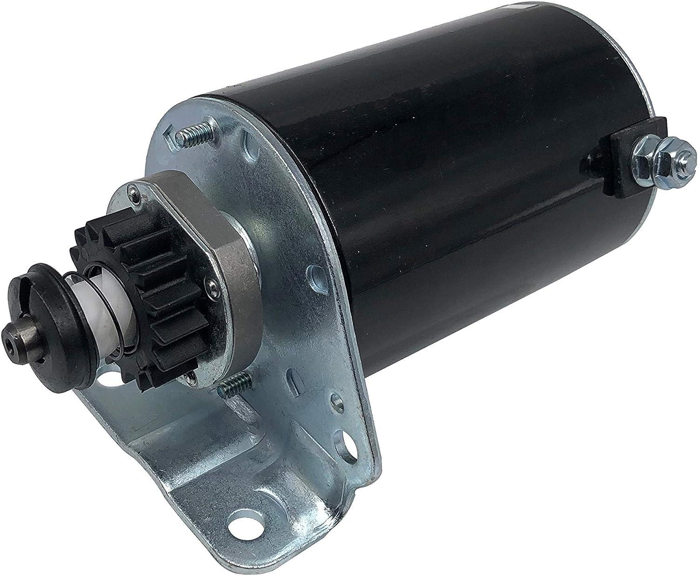 SHUmandala 5746 Starter Motor for Briggs & Stratton 393499 394943 399169 490420 494198 494990 497401 Replace John Deere AM106883 AM38136 AM39285 LG490420 LG497401