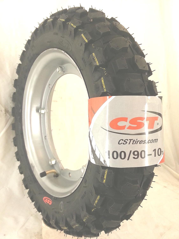 RUOTA COMPLETA 100/90-10 61J TUBLESS CTS APE 50cc consigliato NEVE RMS
