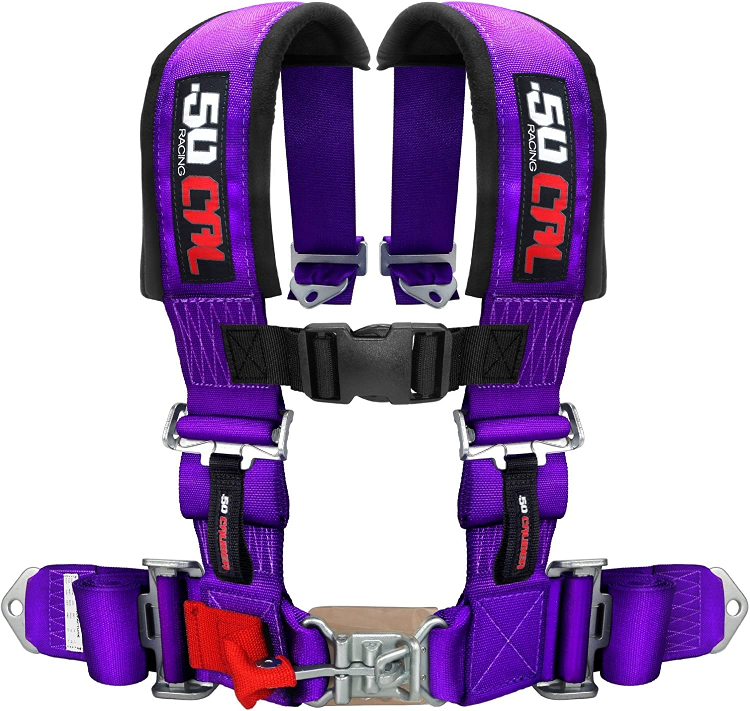 Mounting Hardware Included Fits Polaris RZR Models 5048A5 CB 6008P1 Bump Seat with 2 Purple 4 Point Safety Harness
