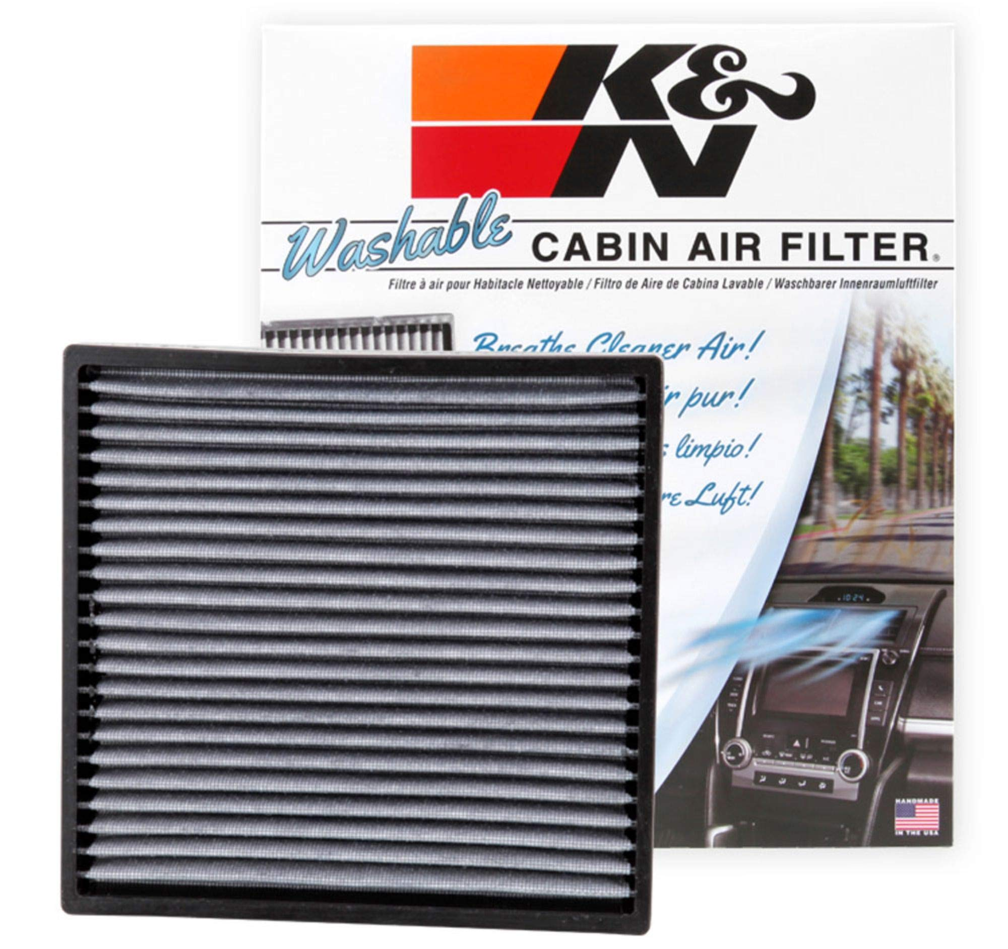 K&N VF2001 Washable & Reusable Cabin Air Filter Cleans and Freshens Incoming Air for your Acura, Honda by K&N