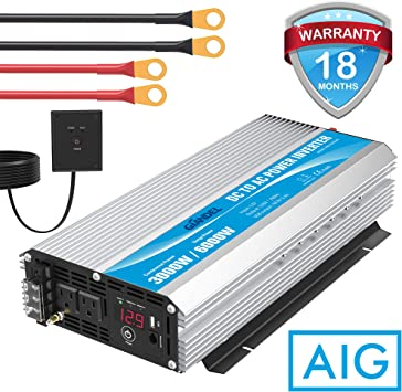 Power inverter 4 USB RV converter 1500W-3000Watt DC 12V to AC 110V For Truck Car