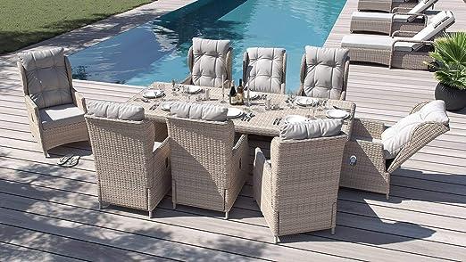 ARTELIA Bariya Juego de muebles de jardín de polirratán XL – Juego de muebles de jardín de