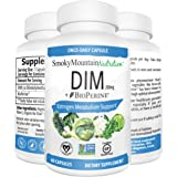 Smoky Mountain Naturals Supplement plus BioPerine (2 Month Supply of DIM) Estrogen Balance, Cystic Acne, PCOS, Hormonal Acne Treatment, Menopause Relief, Body Building. Aromatase Inhibitor. Vegan, Non-GMO, Soy-Free