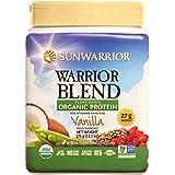 Sunwarrior - Warrior Blend, Raw, Plant Based, Organic Protein, Vanilla, 15 servings