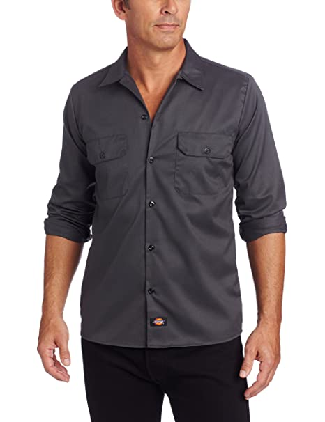 a1b41fc3c7 Dickies Long Sleeve Slim Work Shirt Camisa para Hombre: Amazon.es: Ropa y  accesorios