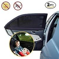 Pare Soleil Pour Vitre, PULNDA Fenêtre voiture universelle Shade 2 pièces,Protection UV Maximale Auto Fenêtre Latérale pour Bébé et Chien Installation Facile Fenêtre Voiture Protection pour la plupart des voitures