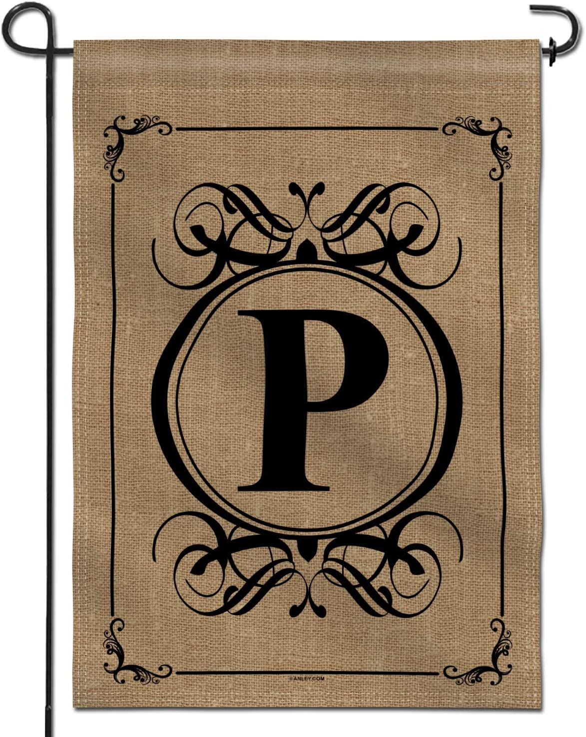 Anley Classic Monogram Letter P Garden Flag, Double Sided Family Last Name Initial Yard Flags - Personalized Welcome Home Decor - Weather Resistant & Double Stitched - 18 x 12.5 Inch