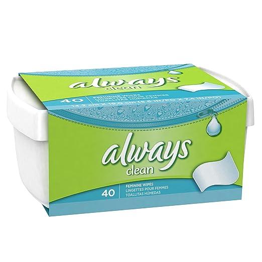 Amazon.com: Always Feminine Wipes , 40 CT (Pack of 3): Health & Personal Care