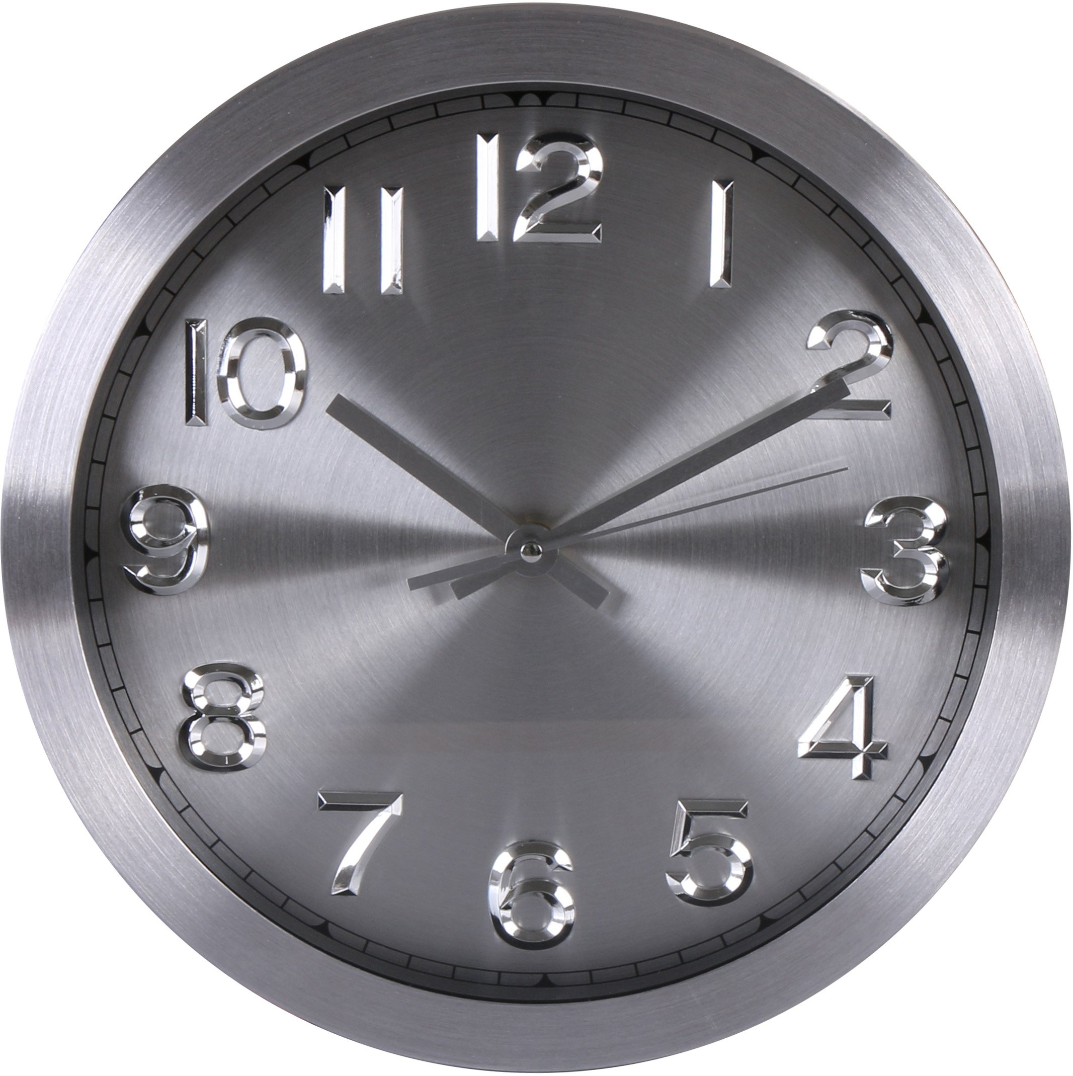 Large Decorative Wall Clocks Clock Non Ticking Battery Operated For