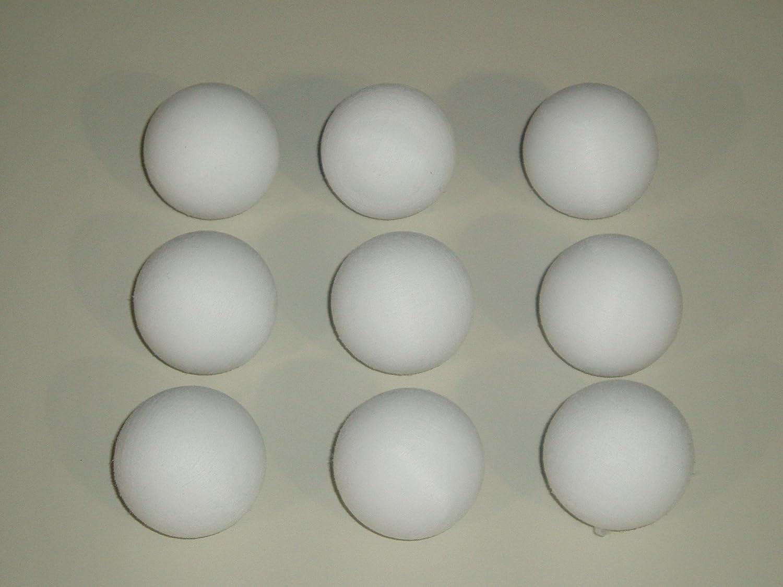 Garlando - Conjunto de 9 balones de futbolín en color blanco (diámetro: 36 mm): Amazon.es: Deportes y aire libre
