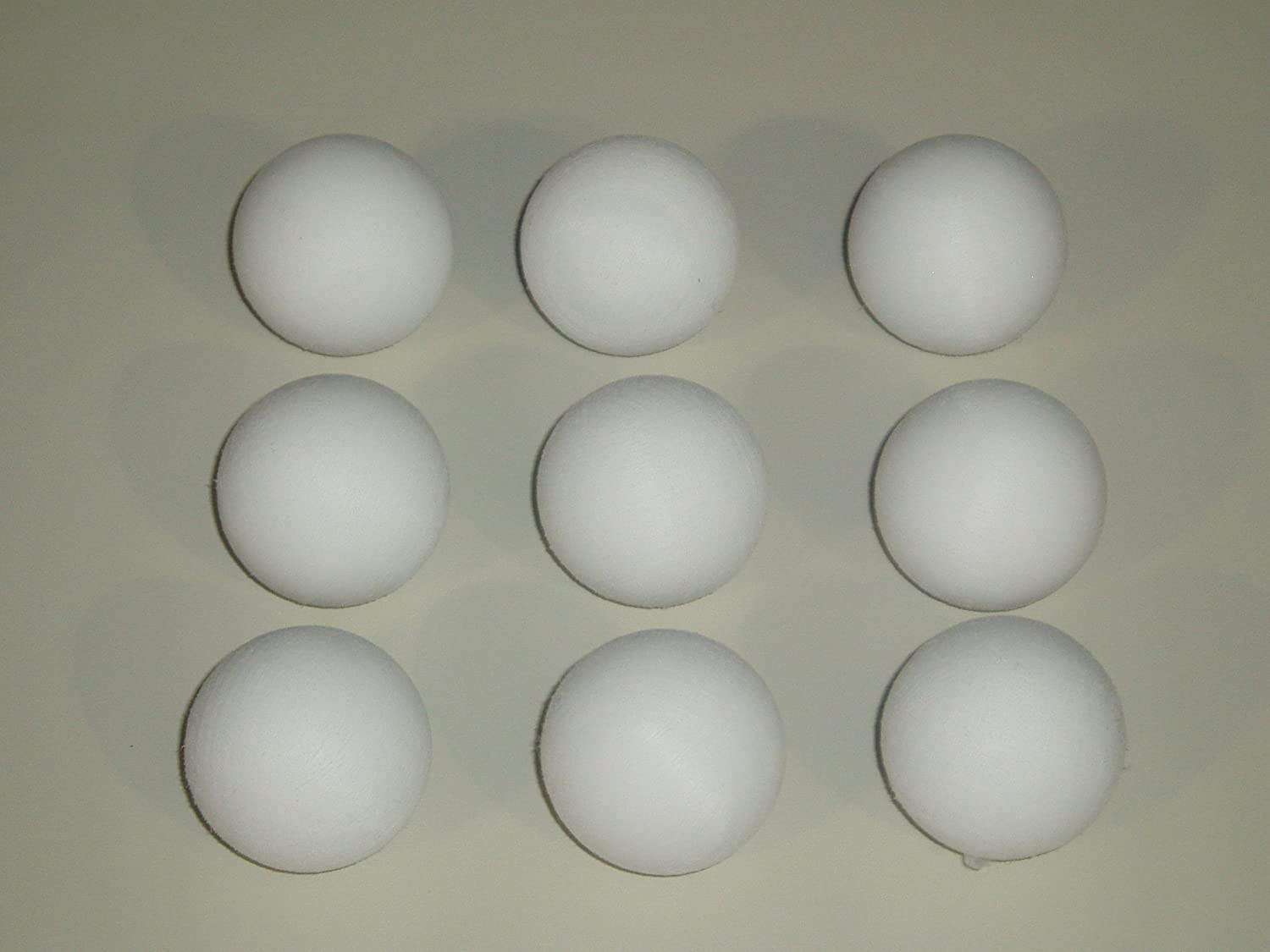FOOTBALL TABLE BALLS 9 x 36 mm SCUFFED WHITE BALLS ** SGL