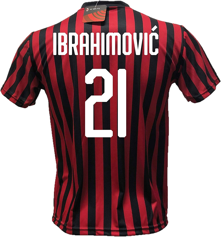 DND Di Andolfo Ciro football shirt Zlatan Ibrahimovic 11 Milan Replica licensed 2019-2020 sizes Child and Adult