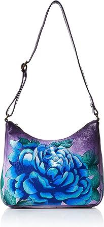 Medium Zippered Hobo Anuschka Womens Genuine Leather Shoulder Bag Hand Painted Original Artwork