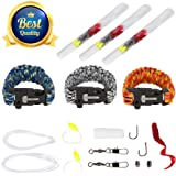 3-Pack Mythic Outdoors Paracord Survival Bracelet with Fishing Kit, Fire Starter & Tinder, Cutting Knife, and Rescue Whistle