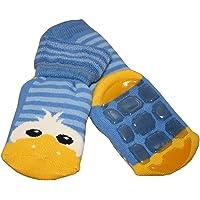 Weri Spezials Unisexe Bebes et Enfants ABS Peluche Caneton Pantoufle Chaussons Chaussettes Antiderapants Bleu Moyen
