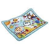 Fisher-Price CBJ65 Große Spiel- und Krabbeldecke mit Tiermotiven und Babyspielzeug, 1 x 1.50 m, blau
