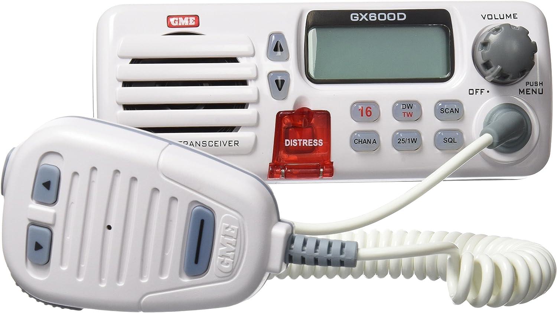 Gme Gx600D-B - Radio marina para barcos, color blanco: Amazon.es ...