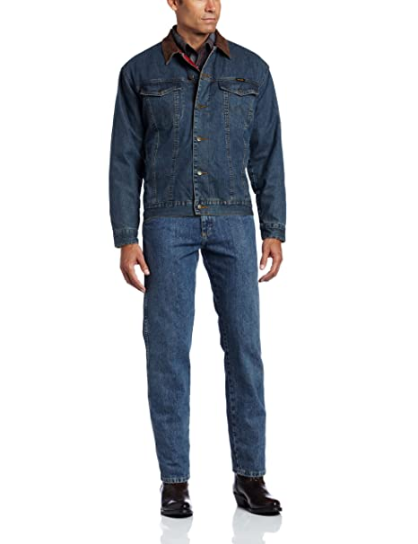 3dbfe737 Wrangler Men's Big & Tall Western Style Lined Denim Jacket, Blanket, ...