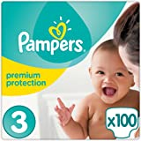 Pampers - Premium Protection - Couches Taille 3 (5-9 Kg) - Pack Géant - Lot de 2 (x100 couches)