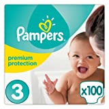 Pampers - Premium Protection - Couches Taille 3 (5-9 Kg) - Pack Géant - (100 couches)
