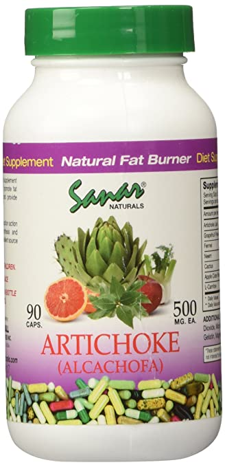 Artichoke Alcachofa 90 Caps 500mg Sanar Naturals Cholesterol and Fat Burning .