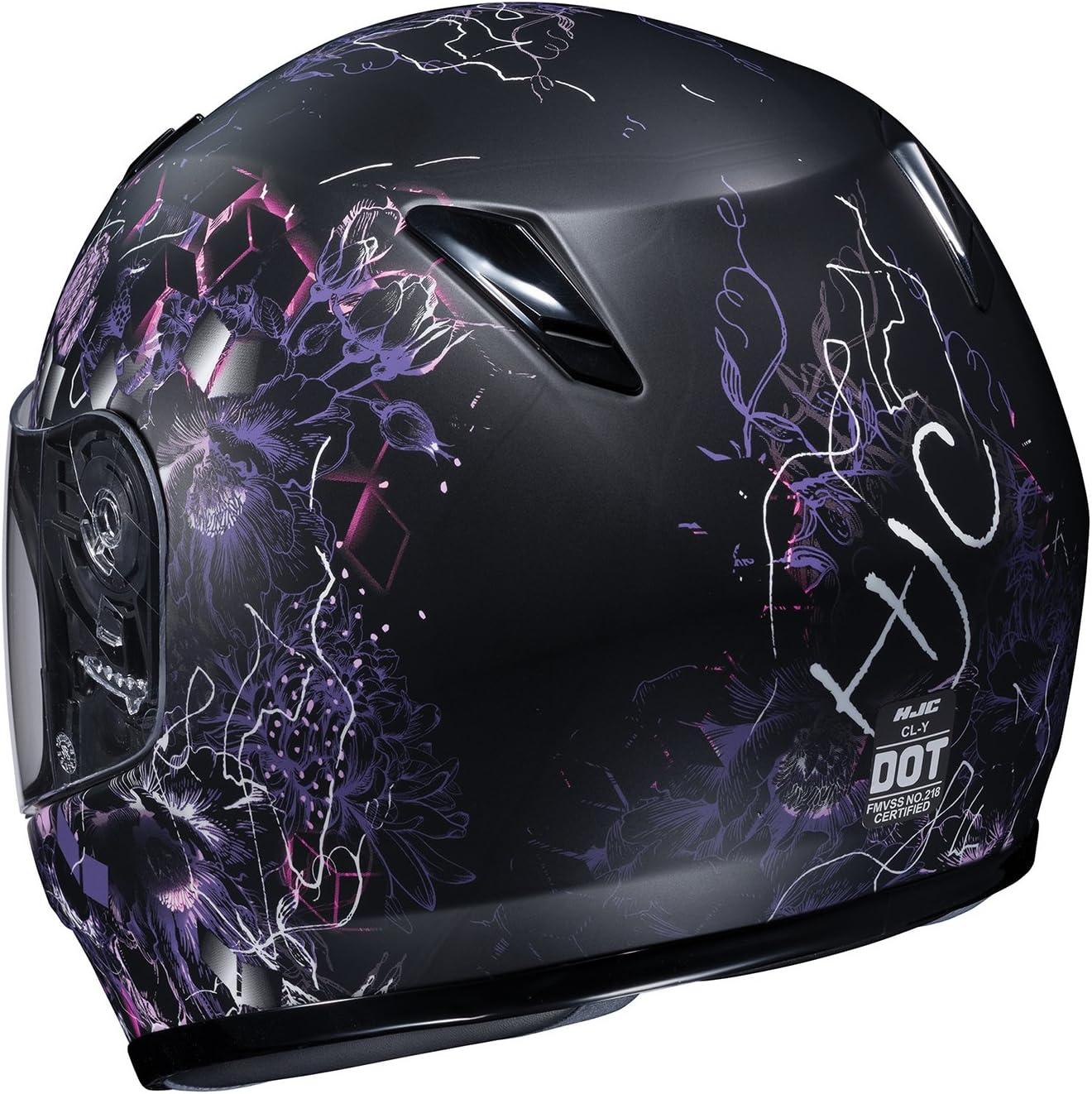 HJC Unisex-Child Full face CL-Y Vela Helmet Black//Purple, Small