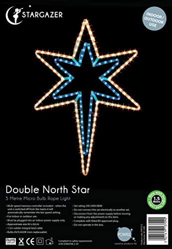 Outdoor christmas north star garden light up sign 5m rope lights outdoor christmas north star garden light up sign 5m rope lights fsc304 aloadofball Choice Image