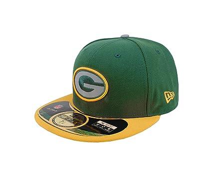 New Era 59Fifty Men Hat NFL Green Bay Packers Thanksgiving Fitted Green Gold  Cap ( 24cc2e36d