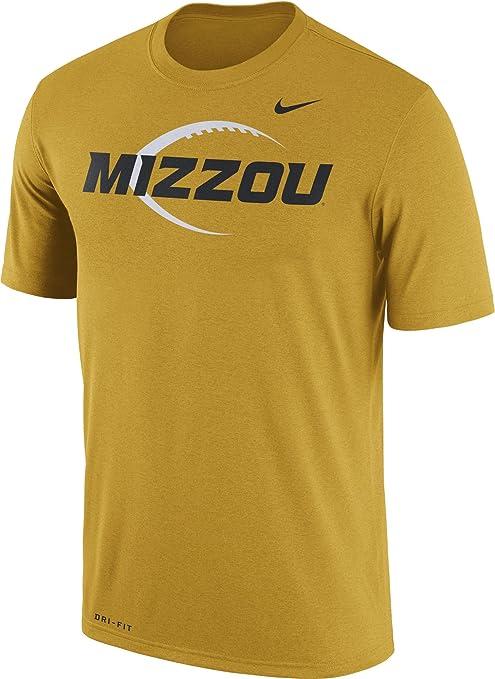 Nike Hombres de Oro de Tigres de Missouri fútbol Icono ...