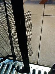 jarolift fliegengitter magnetvorhang f r t ren 110 x 220cm schwarz individuell k rzbar h he. Black Bedroom Furniture Sets. Home Design Ideas