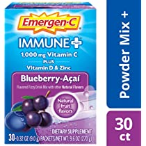 Amazon.com: Emergen-C Immune+ Vitamin C 1000mg Powder, Plus ...