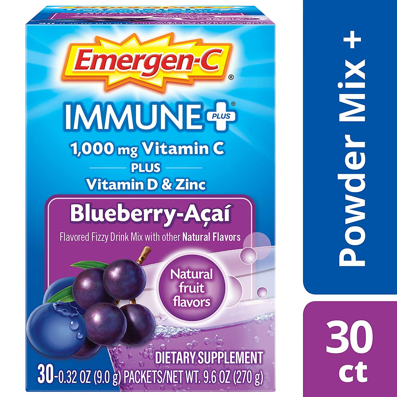 Emergen C Immune +, Blueberry Acai, 30 Count