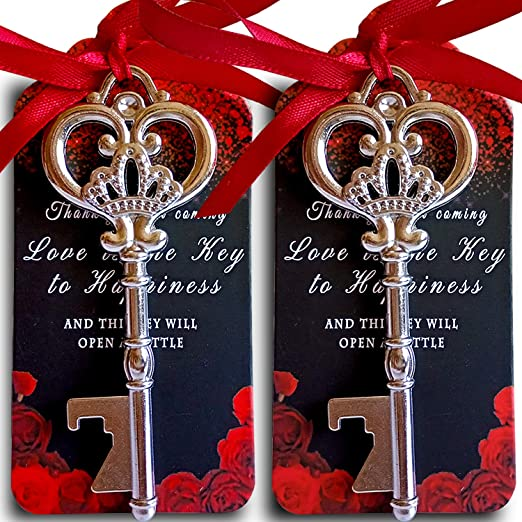 THE KEY TO HAPPINESS WEDDING TAGS WEDDING FAVOUR STAMP WEDDING FAVOUR