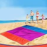 Campfire Products Beach Blanket, Extra Large 2.7m X 2.1m Beach Blanket Sand Free Lightweight Beach Blanket with Pegs and Pockets, Compact Beach Blanket, Folds Easily Bonus Beach Bag.