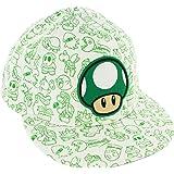 Super Mario Bros Nintendo Green Mushroom White Flex Fit Hat
